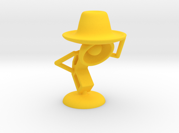 "Lala , ""Am i looking good in hat?"" - Desktoys in Yellow Processed Versatile Plastic"