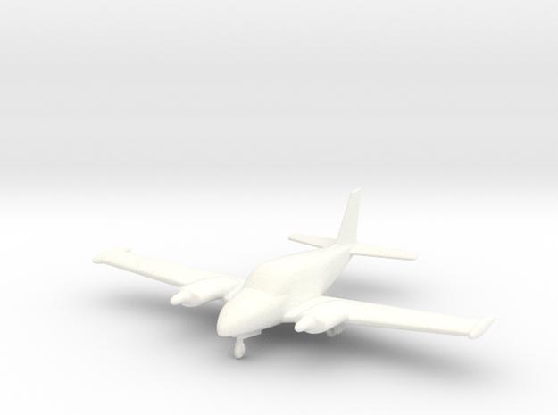 Piper Twin Comanche PA30 in 1/96 Scale in White Processed Versatile Plastic