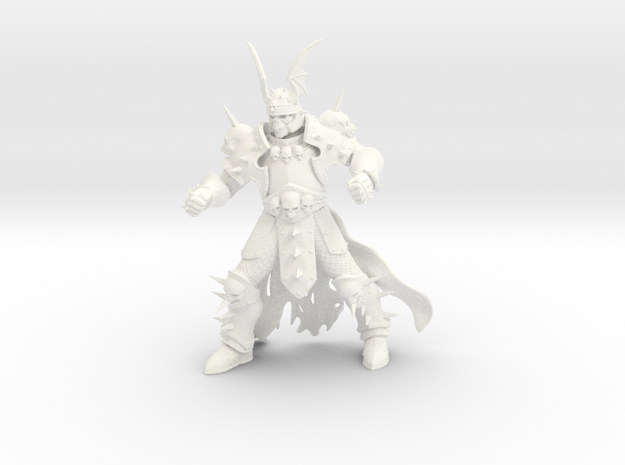 WhiteSkull large in White Processed Versatile Plastic