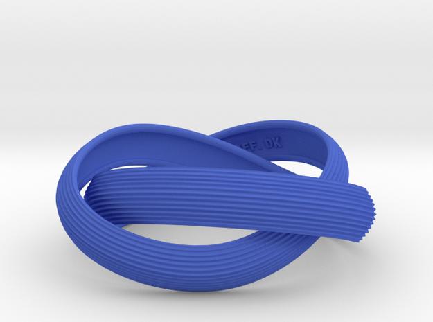 Double Swing Grooved Bracelet M 61 in Blue Processed Versatile Plastic