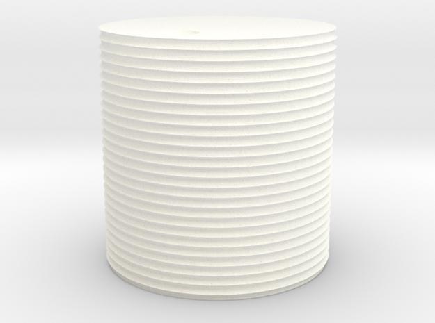 O Scale 1000 Gallon Tank in White Processed Versatile Plastic