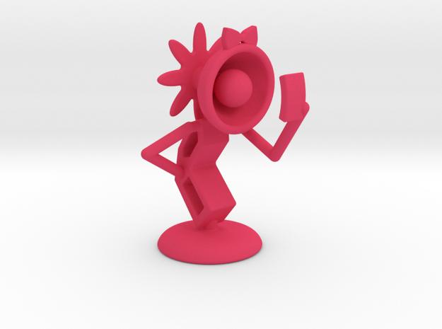 "Lele - ""Taking Selfie"" - DeskToys in Pink Processed Versatile Plastic"