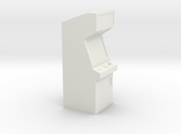 Video Arcade Machine - HO 87:1 Scale in White Strong & Flexible