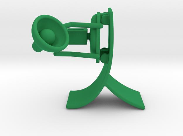 Lala - Skating in Air - DeskToys in Green Strong & Flexible Polished