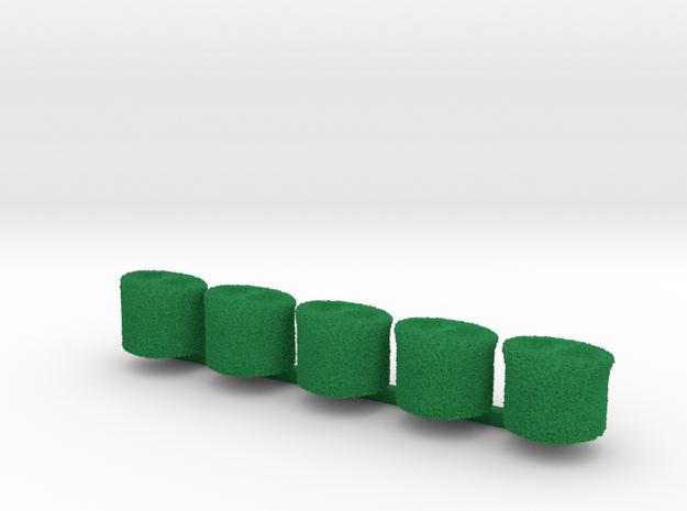 5 x Cossack w/o star in Green Processed Versatile Plastic