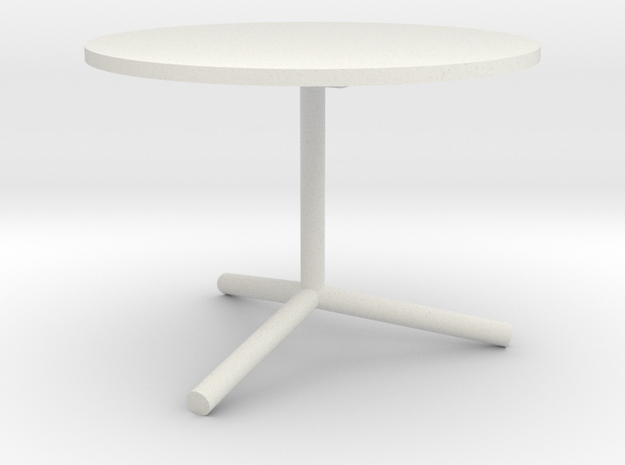 """1:24 36"""" Cafe Table in White Strong & Flexible"""
