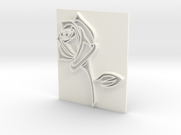 Rose2a in White Processed Versatile Plastic