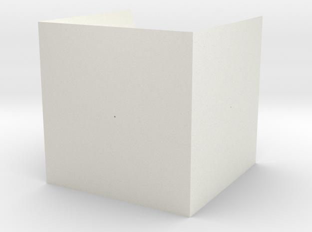 Tennis Cube in White Natural Versatile Plastic