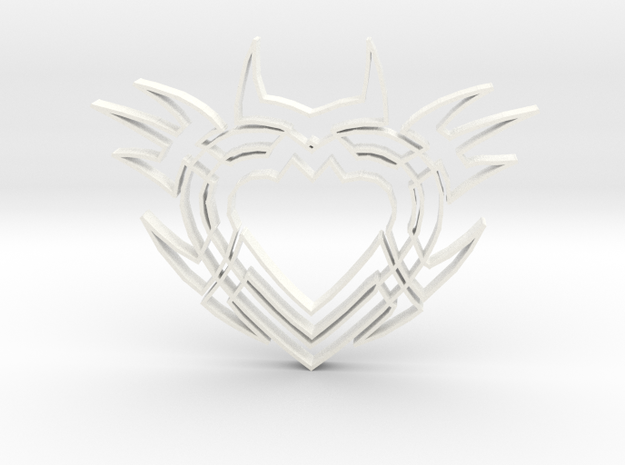 Heart2b in White Processed Versatile Plastic