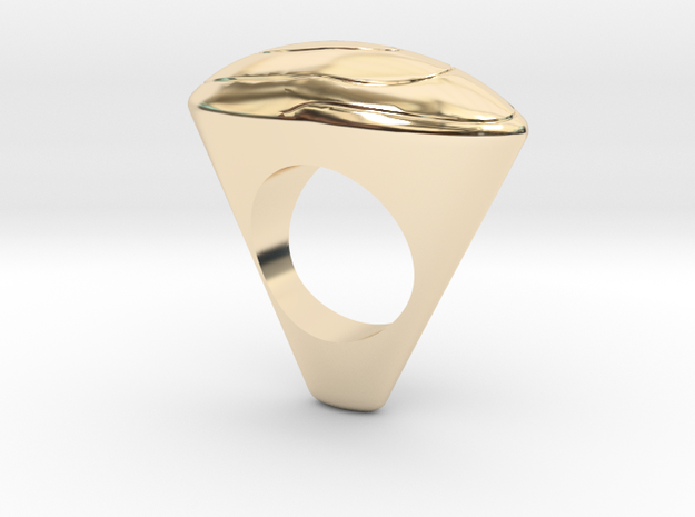 Ring arts oval in 14K Yellow Gold