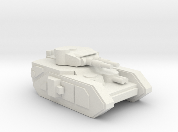 [5] Heavy Tank (Dual Cannon) in White Natural Versatile Plastic