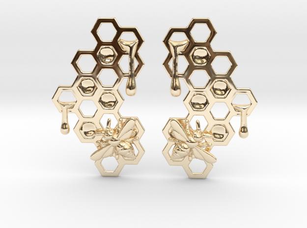 Honey Comb Earring Set