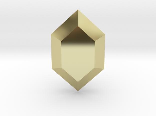 Zelda Rupee in 18k Gold Plated Brass