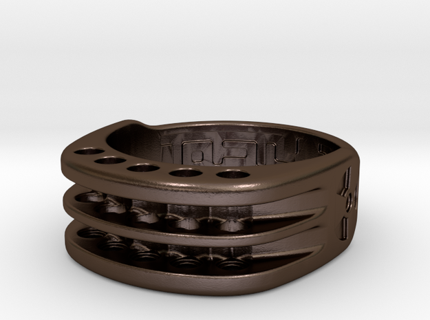 US11 Ring XI: Tritium (Stainless Steel) in Polished Bronze Steel