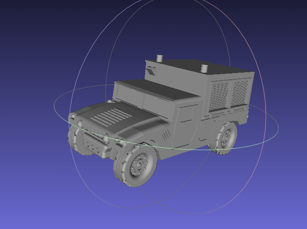 1/144 Humvee M1097A2 Shop Equipment Maintenance (S 3d printed