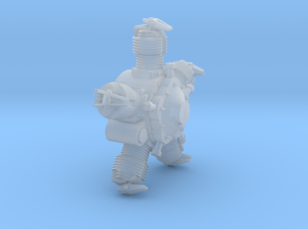 NKL-16 ENGINE V01 FOR PRINT ASSEMBLED in Smooth Fine Detail Plastic