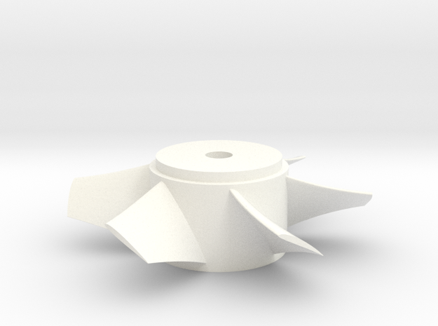 Ducted Fan 90mm rotor left turn in White Strong & Flexible Polished