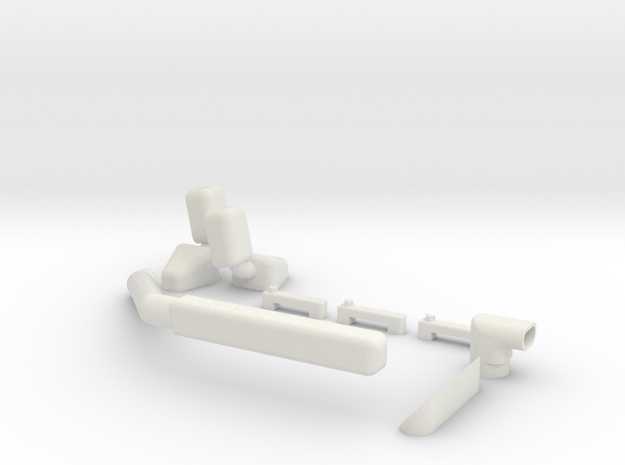 Ascender K5 Kit in White Natural Versatile Plastic