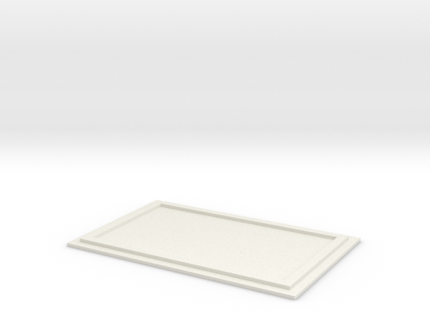 1/50 Rooftop HVAC Unit Blanking Plate in White Natural Versatile Plastic