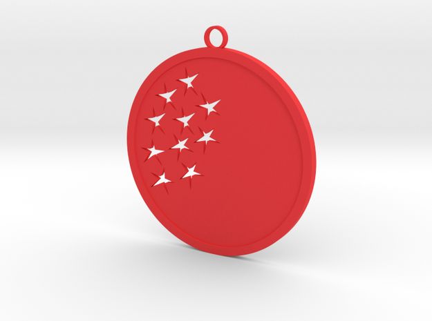 Christmas Ball with star in Red Processed Versatile Plastic