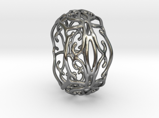 IvyRing in Polished Silver