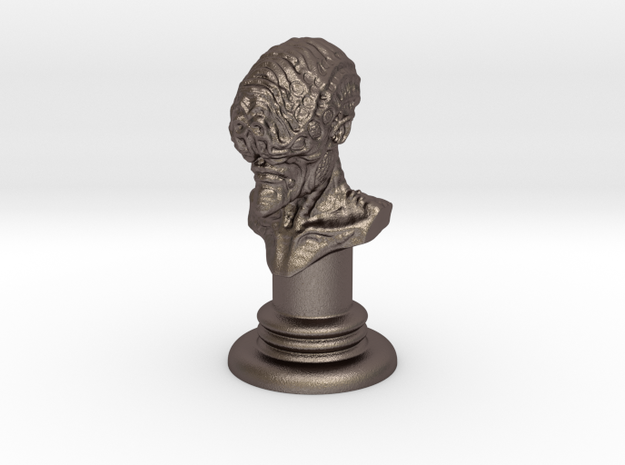 Alien-02 in Polished Bronzed Silver Steel
