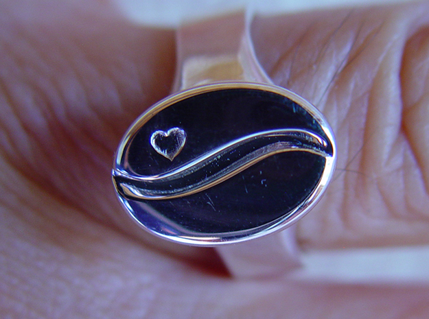 Coffee Ring in Premium Silver: 8 / 56.75