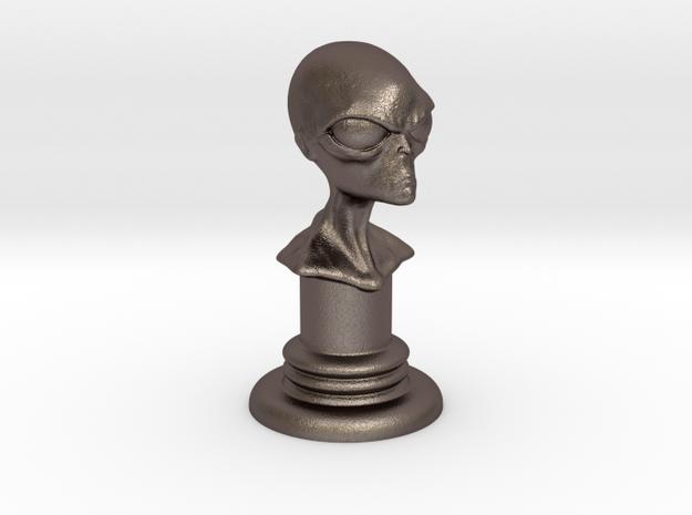 Alien-04 in Polished Bronzed Silver Steel