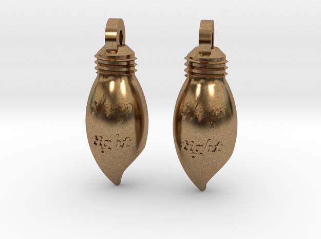{pendant} Night Light in Natural Brass