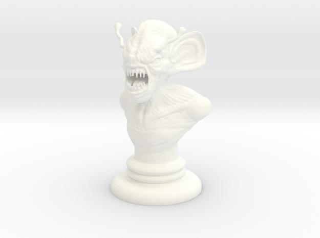 Alien-08 in White Processed Versatile Plastic