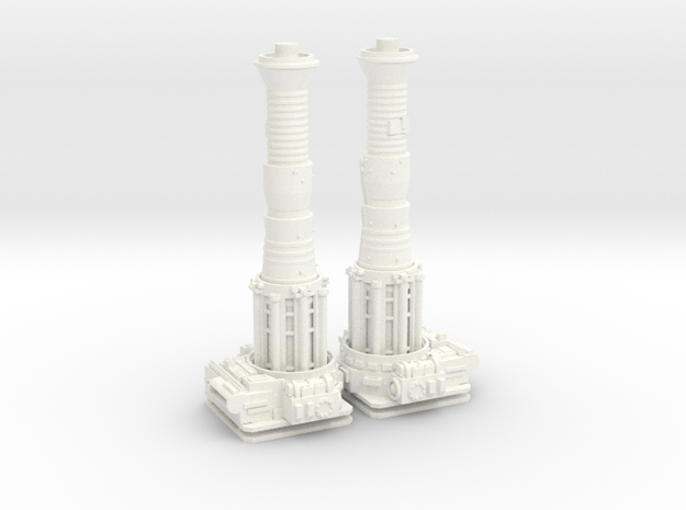 TURBOLASER TOWER CANNONS 1/72 Plastic