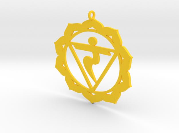 Solar Plexus Chakra Necklace in Yellow Processed Versatile Plastic