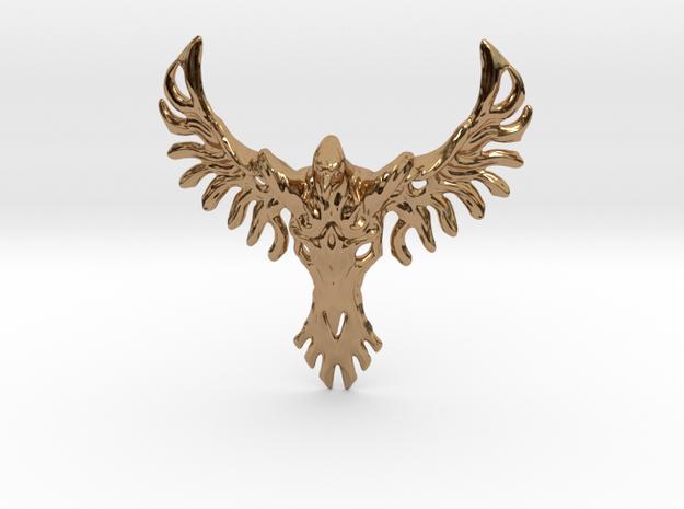 Rebirth Phoenix & Bull Skull Pendant: Small