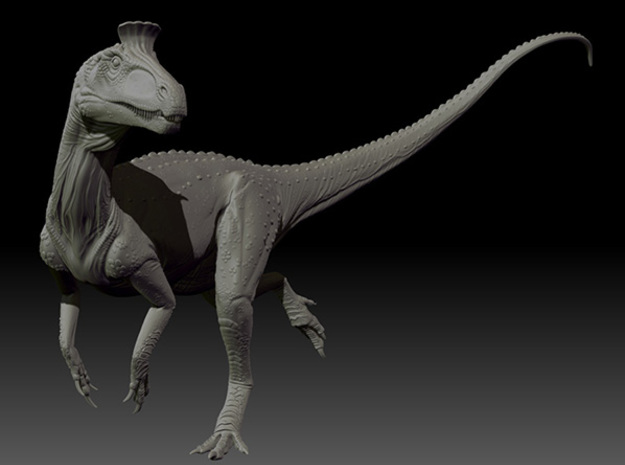 1/40 Cryolophosaurus - Running 3d printed Zbrush render of front view