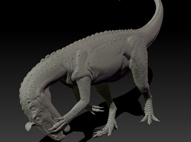 1/40 Cryolophosaurus - Preening 3d printed Zbrush render of final sculpt
