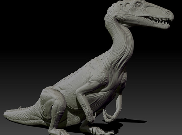 1/40 Cryolophosaurus - Sitting 3d printed Zbrush render of final sculpt