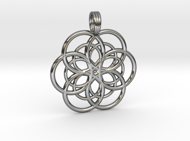 DEEP WATER STAR in Fine Detail Polished Silver