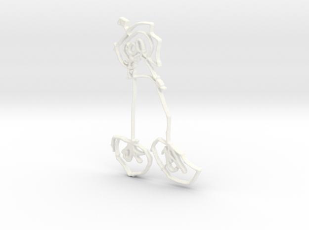 Xander  in White Processed Versatile Plastic