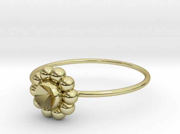 Size 7 Shapes Ring S6 in 18k Gold Plated Brass