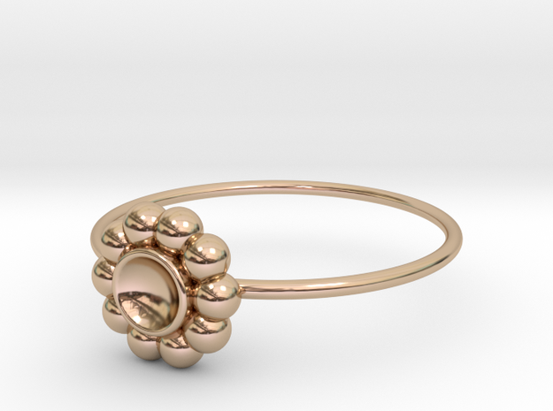 Size 8 Shapes Ring S5 in 14k Rose Gold Plated Brass