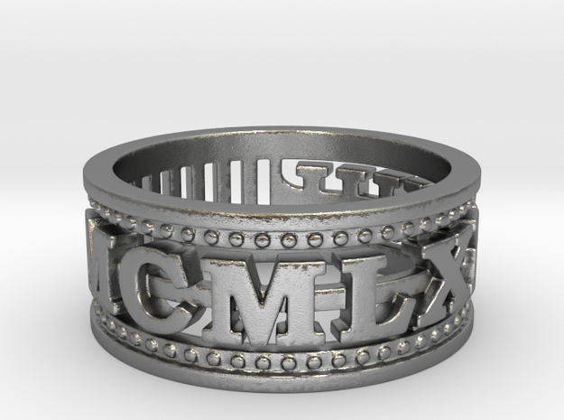 MCMLXXVIII Ring Size 11 1978 in Raw Silver