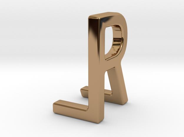 Two way letter pendant - LR RL