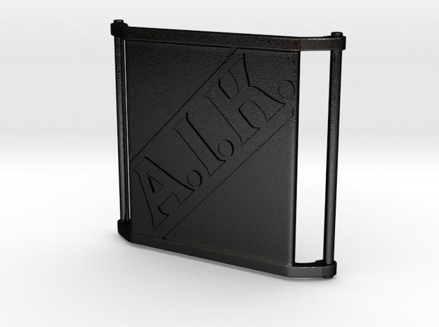 Charm Large - AIK in Matte Black Steel
