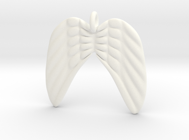 Angel Wings in White Processed Versatile Plastic