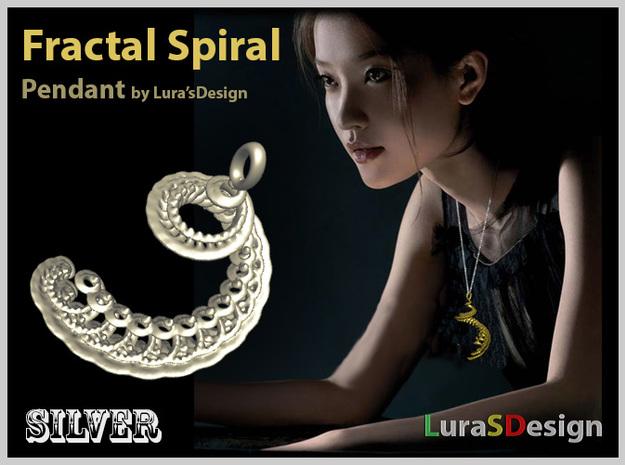 Fractal Spiral Earring 3d printed