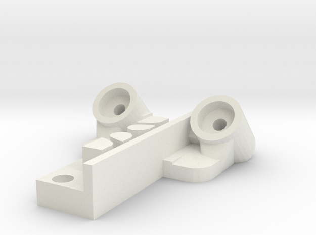 Kossel 12mm Magnet Carriage Final 2020 in White Strong & Flexible