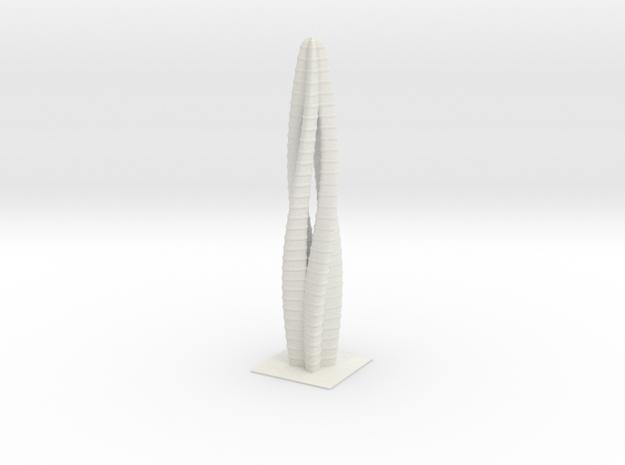 Anki & Guild Cityscape - The Spiral in White Natural Versatile Plastic