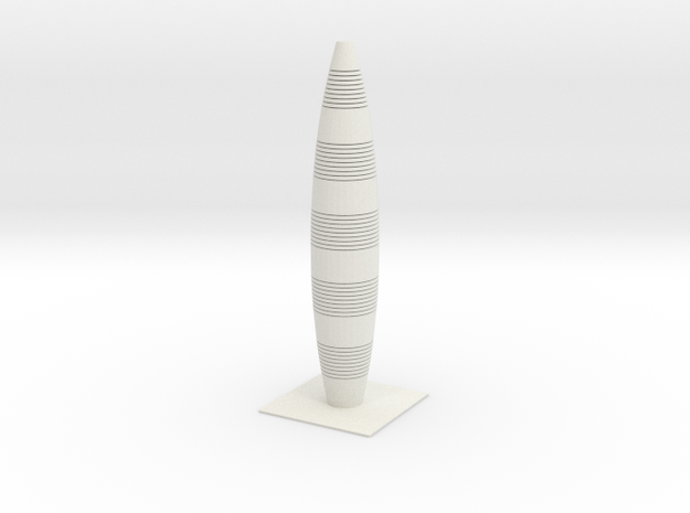 Anki & Guild Cityscape - The Bowling Pin in White Natural Versatile Plastic
