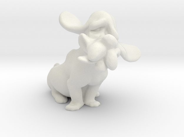 Hound Dog  in White Natural Versatile Plastic
