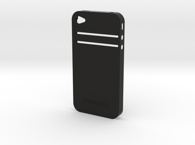 Awgust iPhone 4/4S Case for EC Cards in Black Natural Versatile Plastic